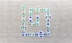 สื่อการเรียนการสอน -T06-04 เกมภาพต่อปลาย (โดมิโน) ผลไม้ (25ชิ้น)