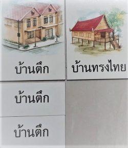 สื่อการเรียนการสอน -T02-07 เกมจัดหมวดหมู่ภาพกับสัญลักษณ์ ภาพบ้าน