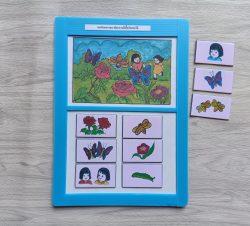สื่อการเรียนการสอน -T05-13 เกมสังเกตรายละเอียดภาพผีเสื้อกับดอกไม้