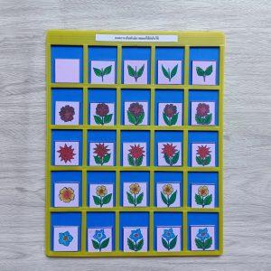 สื่อการเรียนการสอน -T14-13 เกมตารางสัมพันธ์ภาพดอกไม้กับใบไม้