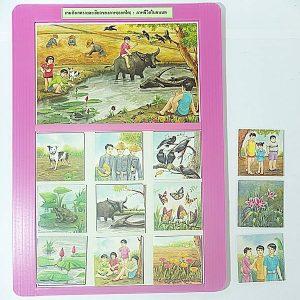 T02-11 เกมสังเกตรายละเอียดของภาพ(ลอตโต) ภาพชีวิตในชนบท