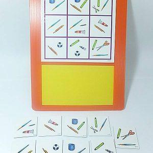 T03-04 เกมจับคู่ภาพเหมือนสิ่งของเครื่องใช้ในโรงเรียน