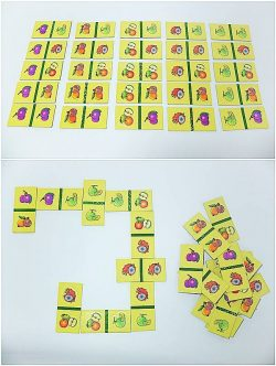 T06-04 เกมภาพต่อปลาย (โดมิโน) ผลไม้ (25ชิ้น)