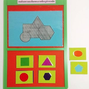 T14-02 เกมสังเกตรายละเอียดของภาพซ้อนรูปเรขาคณิต