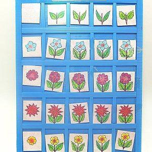 T14-13 เกมตารางสัมพันธ์ภาพดอกไม้กับใบไม้