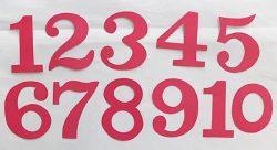 T19-161 ตัวอักษร 1-10 (สำหรับทำสื่อร้อยเชือก)