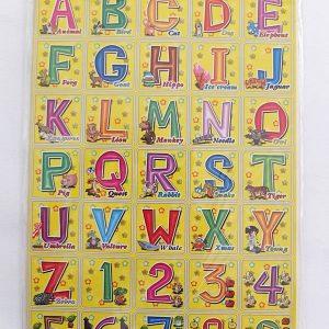 T19-18(04) สติ๊กเกอร์ภาพ ตัวอักษรภาษาอังกฤษ ขนาด 17 x 26.5 ซม.