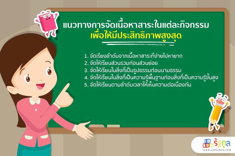 แนวทางการจัดเนื้อหาสาระในแต่ละกิจกรรม สำหรับเด็กปฐมวัย