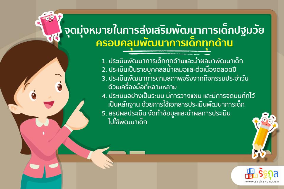 จุดมุ่งหมายในการส่งเสริมพัฒนาการเด็กปฐมวัย