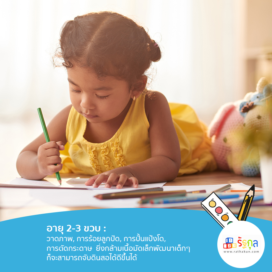 ส่งเสริมพัฒนาการด้านการวาดของเด็กอายุ 2-3 ขวบ