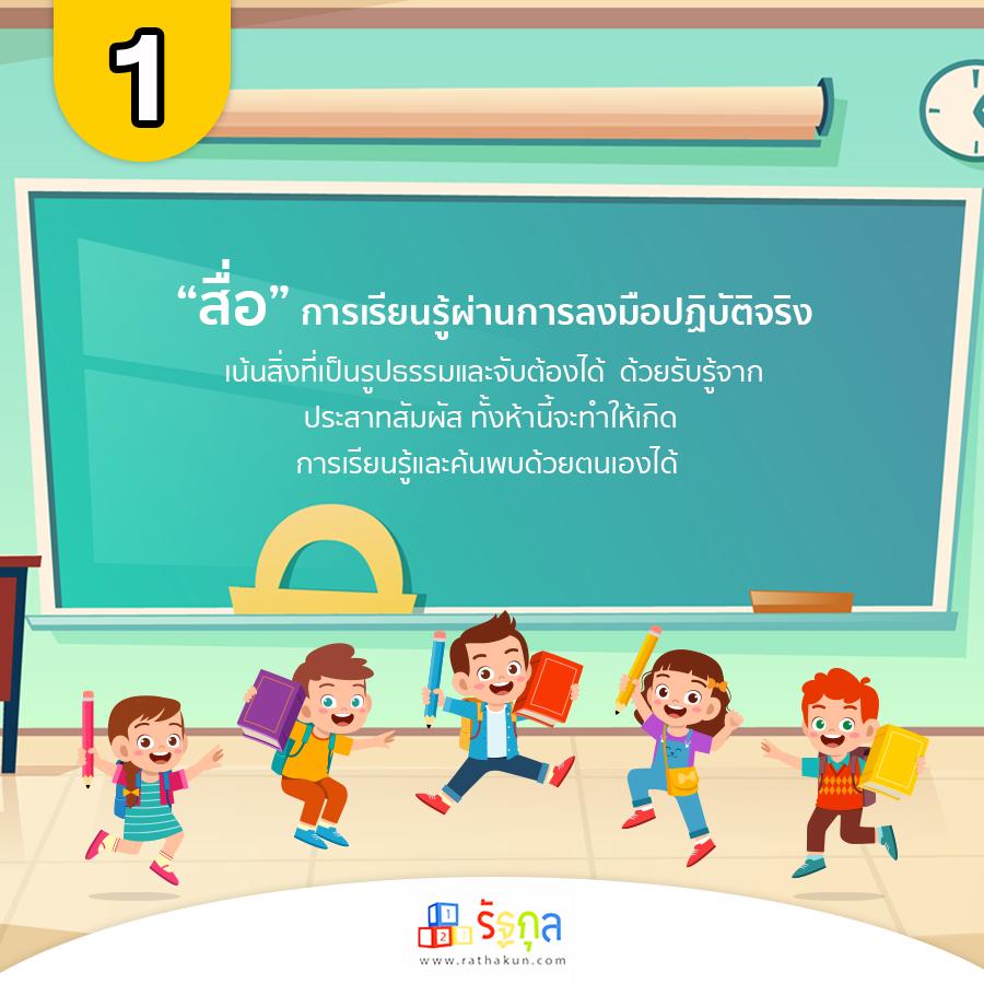 สื่อที่ 1 เพื่อส่งเสริมทักษะเพื่อกระตุ้นพัฒนาการและการเรียนรู้ของเด็ก