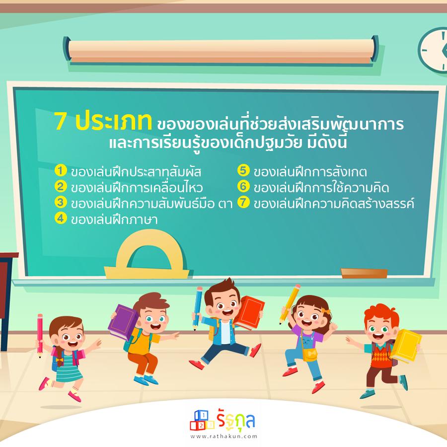 7 ของเล่นเพื่อส่งเสริมทักษะเพื่อกระตุ้นพัฒนาการและการเรียนรู้ของเด็ก