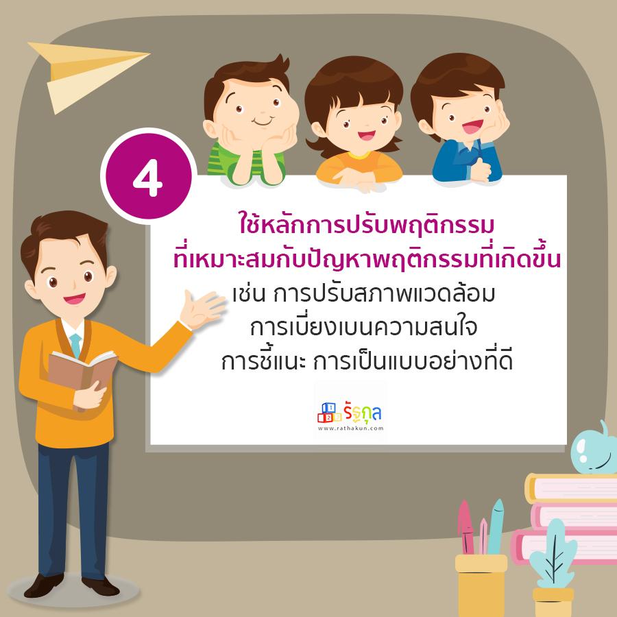 เทคนิคที่ 4 การรับมือกับพฤติกรรมเด็กปฐมวัย