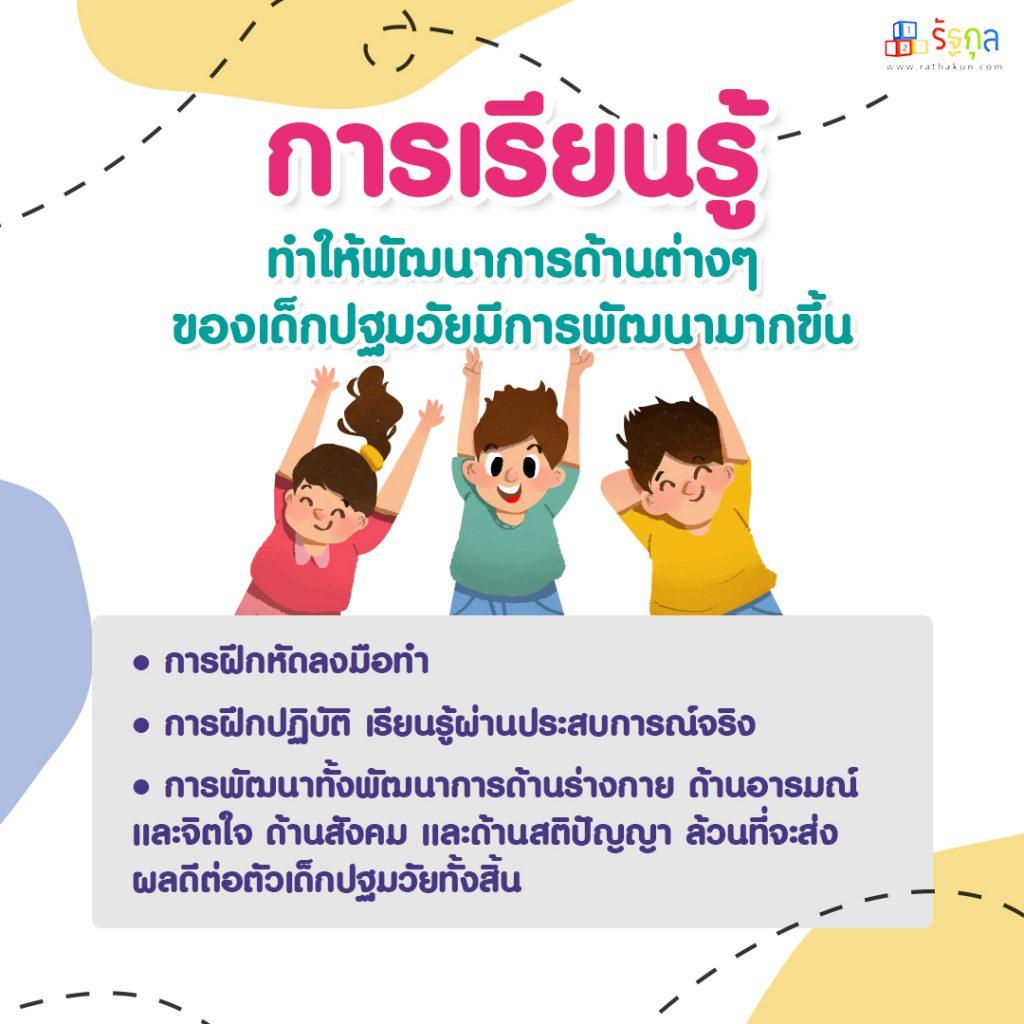 การลงทุนพัฒนาเด็กปฐมวัย การเรียนรู้+rathakun