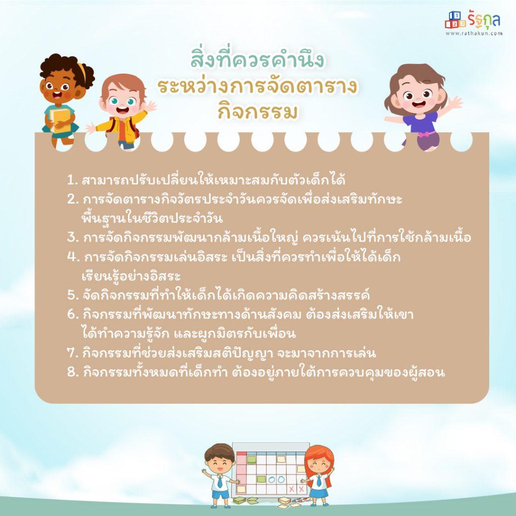 How to จัดตารางกิจวัตรประจำวันสำหรับเด็ก ตัวช่วยเสริมพัฒนาการแบบมีระบบ -3